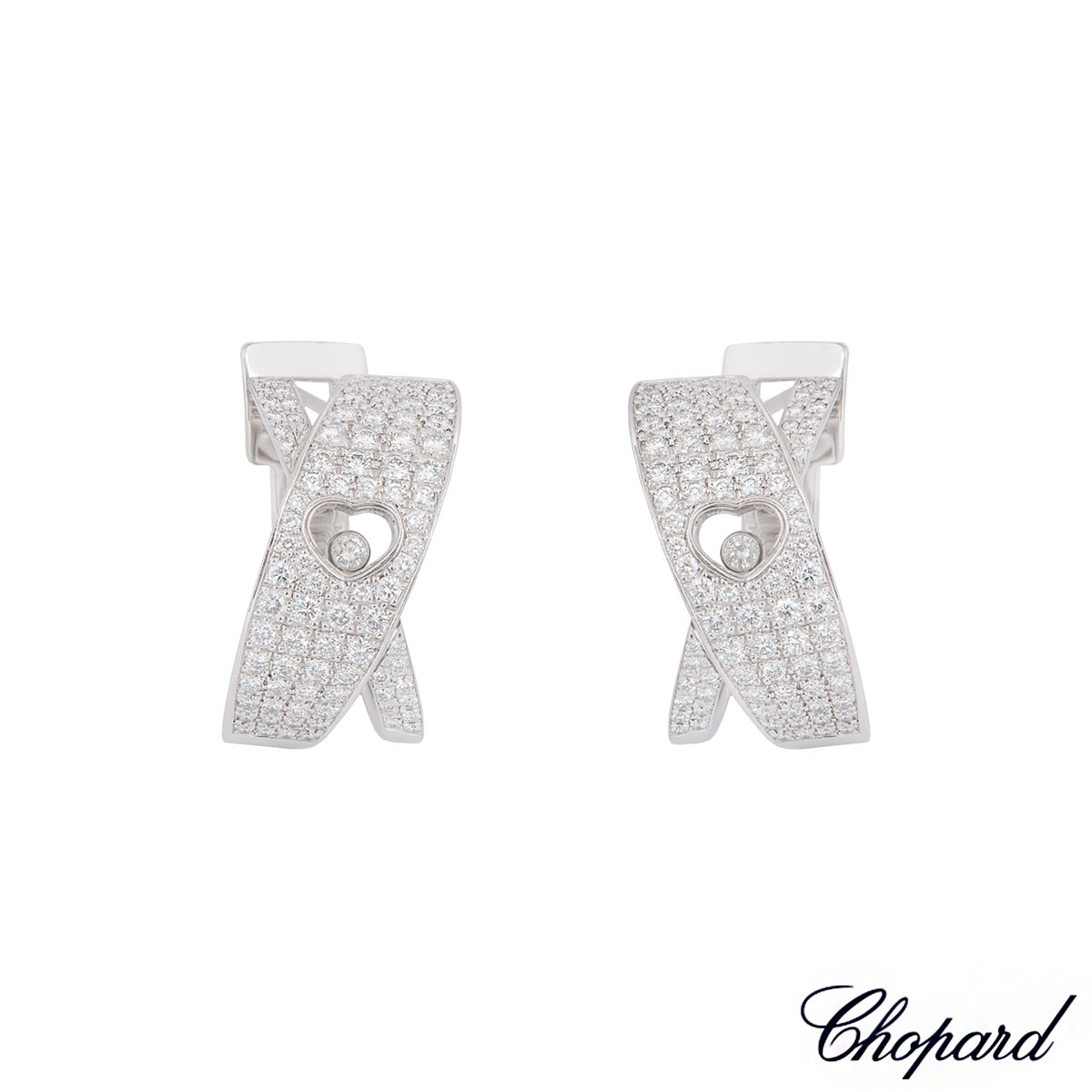 Chopard White Gold Happy Diamonds Earrings 84/3203-20